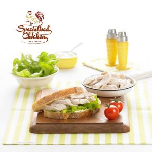 0102 COOKED & DICED 100% CHICKEN BREAST 1KG